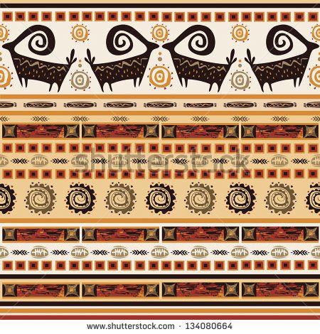 Pattern With African Ornaments Afrika Desenleri Baski Antik Sanat