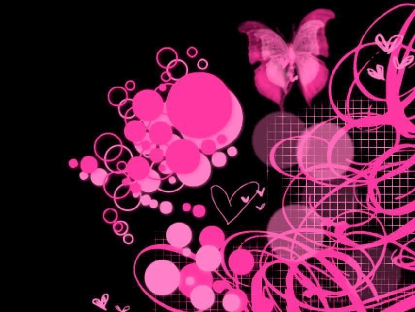 Pink Amp Black Wallpaper