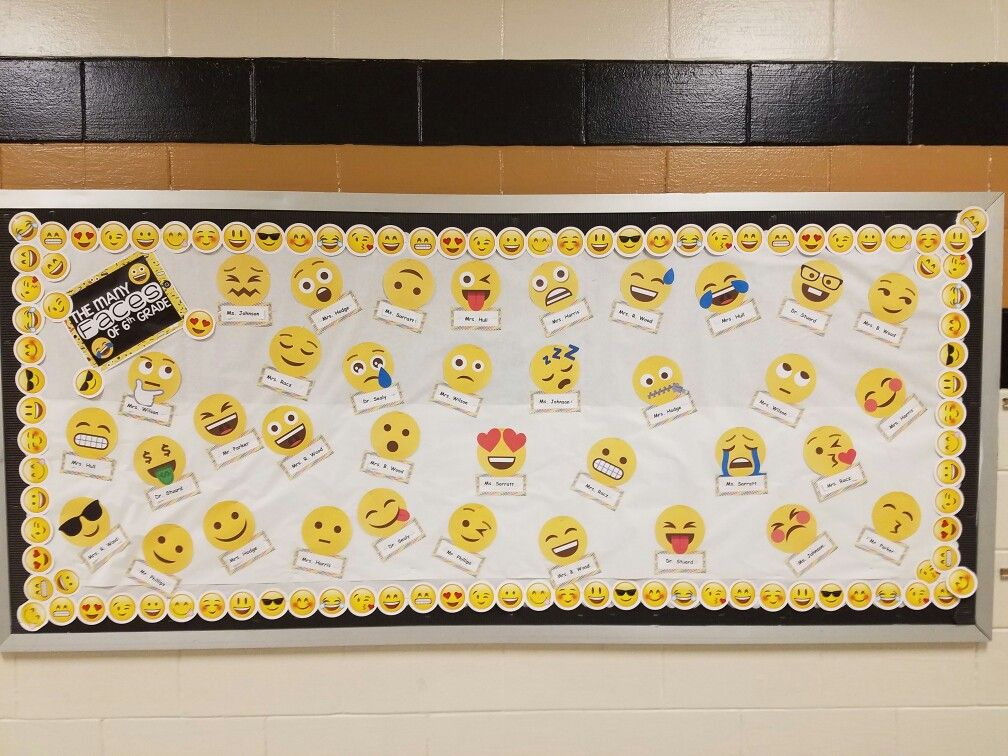 Classroom Decoration Emoji : Used this for my hallway bullentin board https