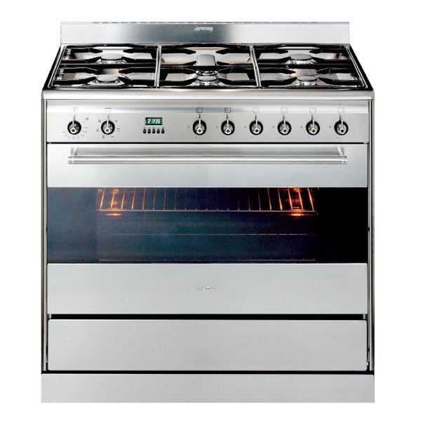 Smeg 90CM Electric Oven With Gas Cooktop Stainless Steel SA9066XS. | Eu0026S  Trading   Kitchen