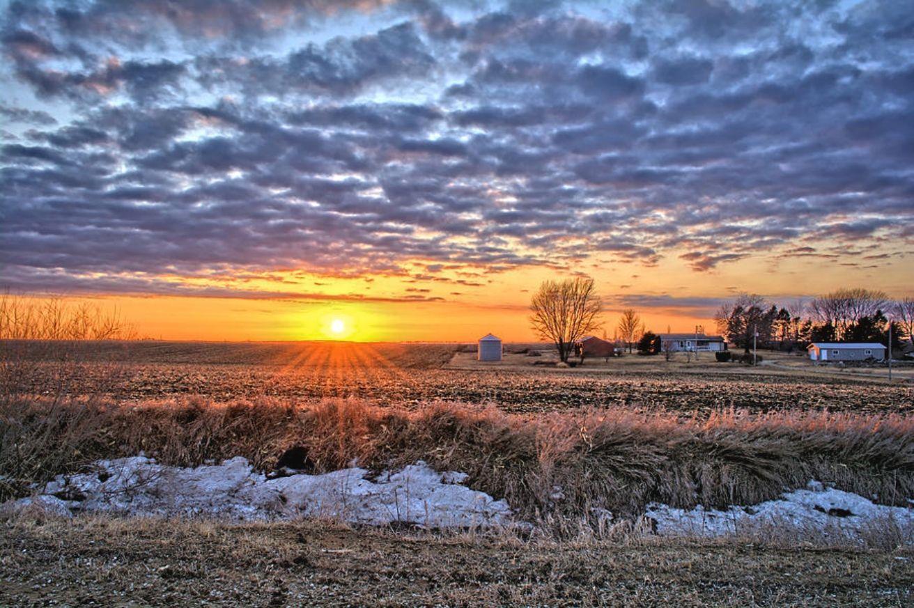 Iowa farm sunset iowa farms landscape photography
