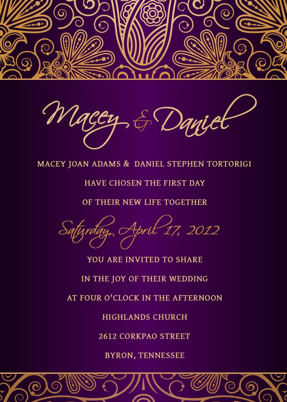 Follow Us SIGNATUREBRIDE On Twitter And On FACEBOOK SIGNATURE - Wedding invitation templates: facebook wedding invitation template