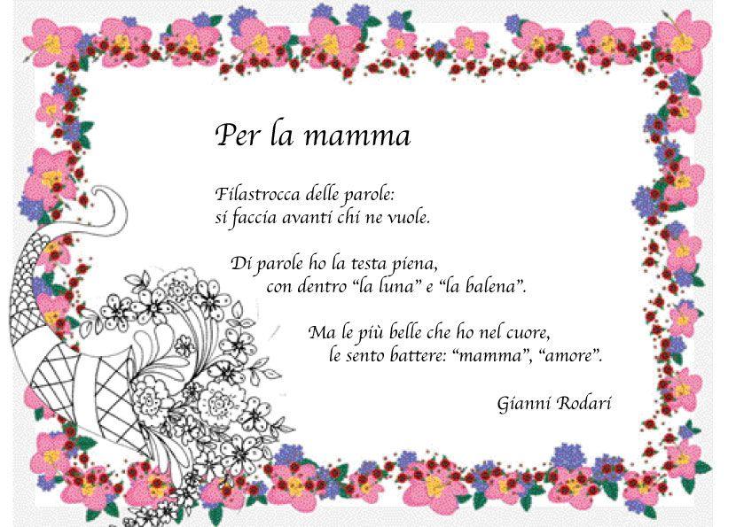Compleanno Mamma Poesia.Frasi Sulla Mamma In Rima