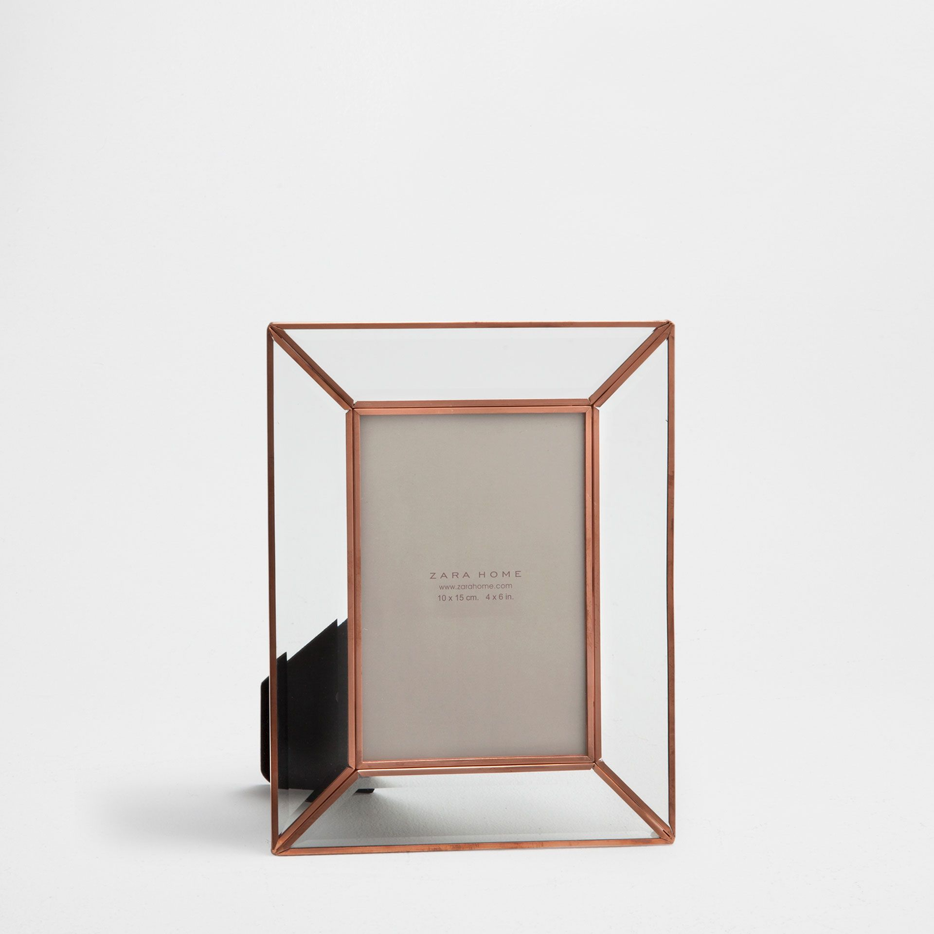 Glass frame with a copper-coloured double border | Copper color ...