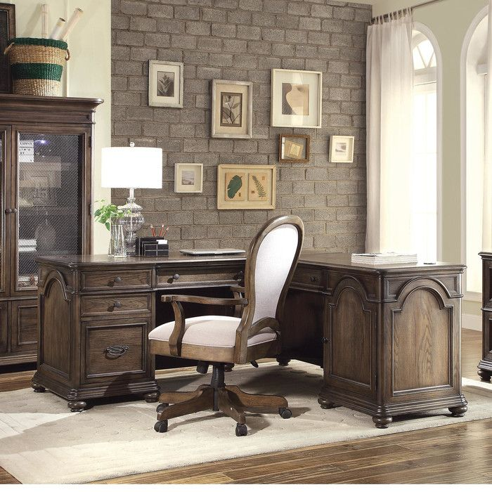 Riverside Furniture Belmeade Executive Desk With Return U0026 Reviews | Wayfair