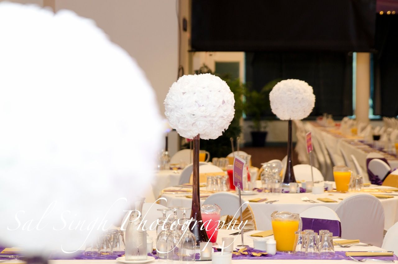 Flower Ball table centrepieces by Beautiful Weddings Coffs Harbour