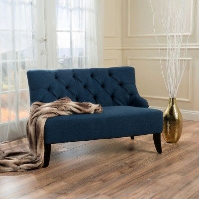 Nicole Settee – Dark Blue – Christopher Knight Home - Home ...