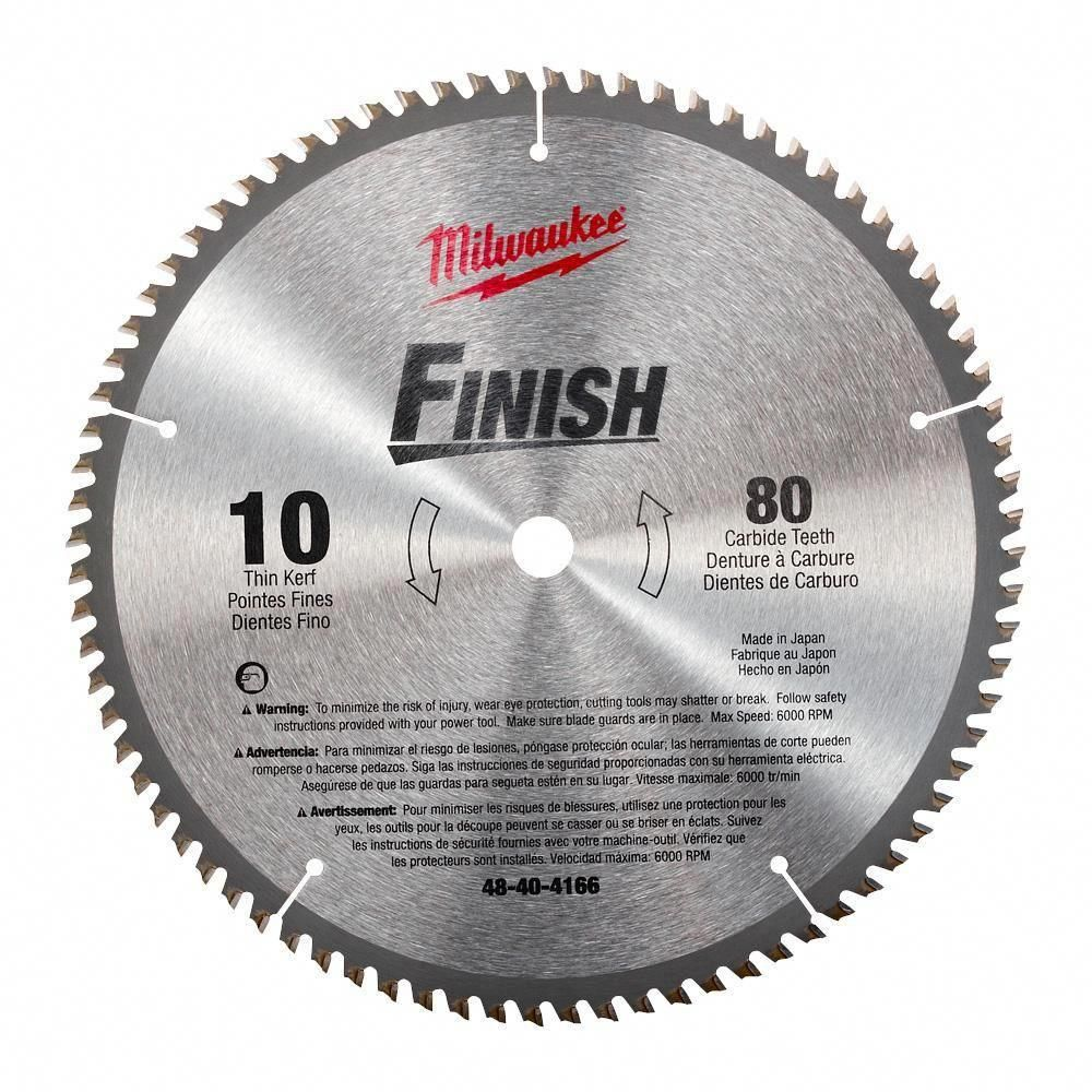Milwaukee 10 In X 80 Carbide Teeth Finish Wood Cutting Circular Saw Blade Tablesaw Top Woodwork Tools In 2019 Circular Saw Blades Circular Saw Tools