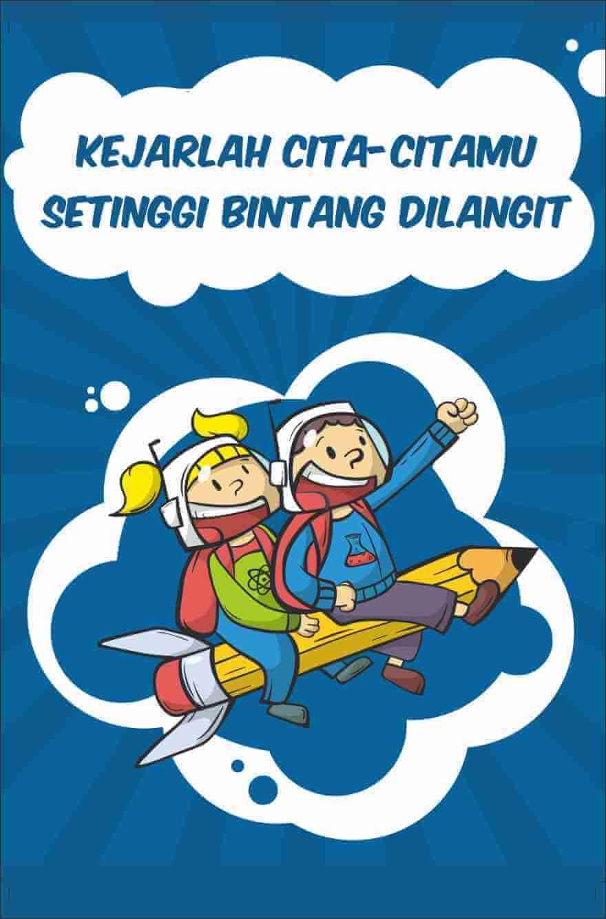 Contoh Gambar Poster Pendidikan Kartun
