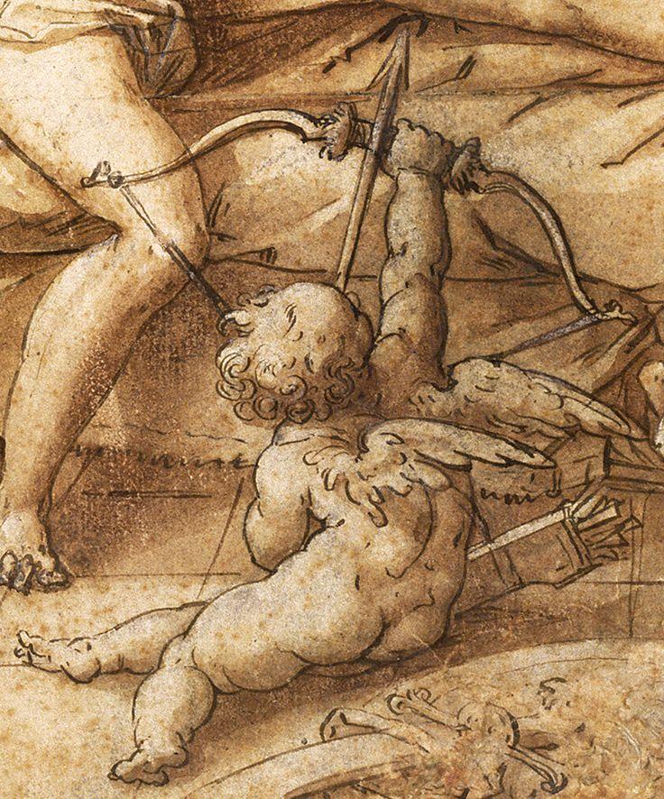 Venus and Mars Surprised by Vulcan (detail), Hendrick Goltzius, 1585