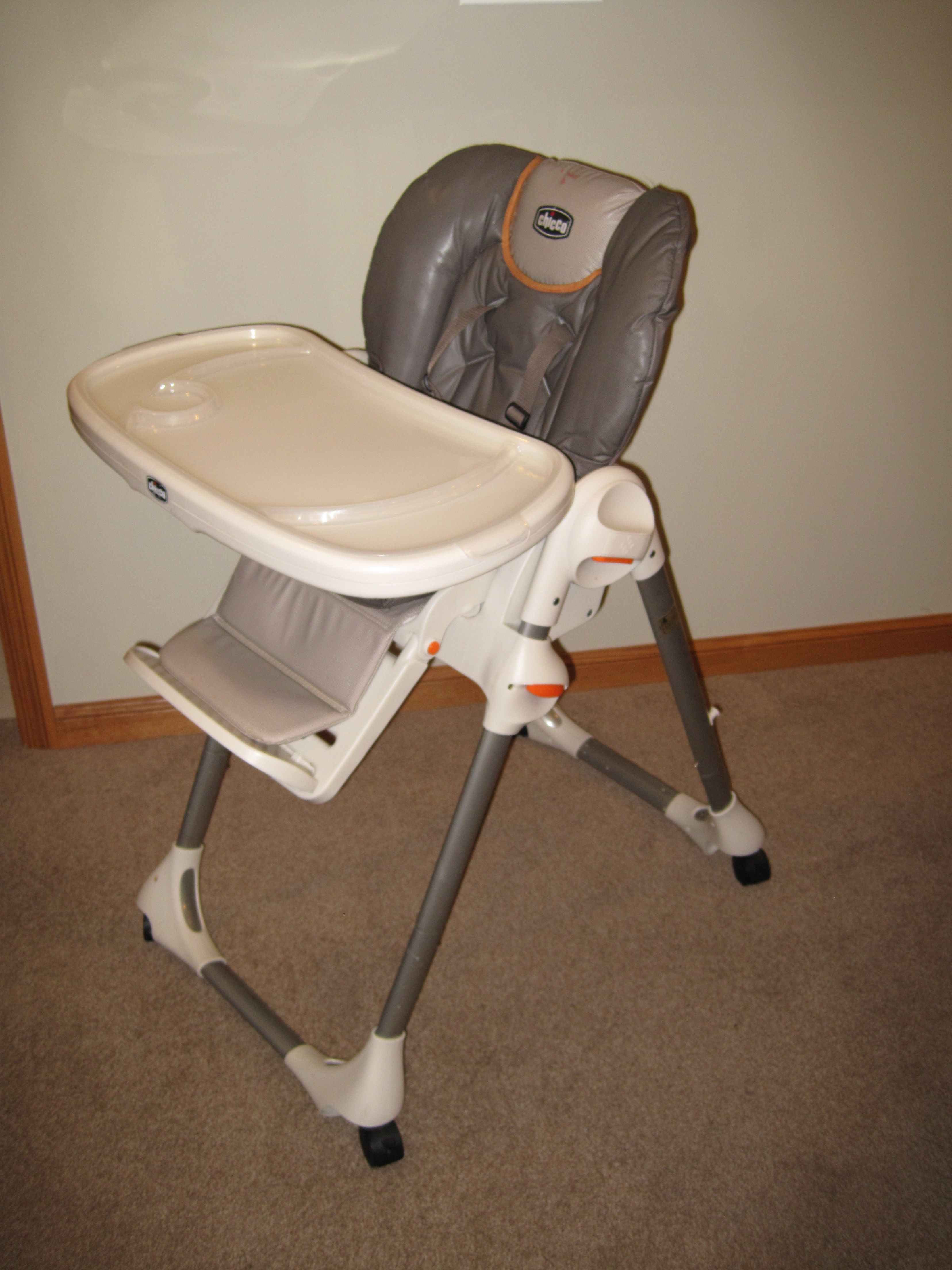 Chicco Brown And Orange High Chair