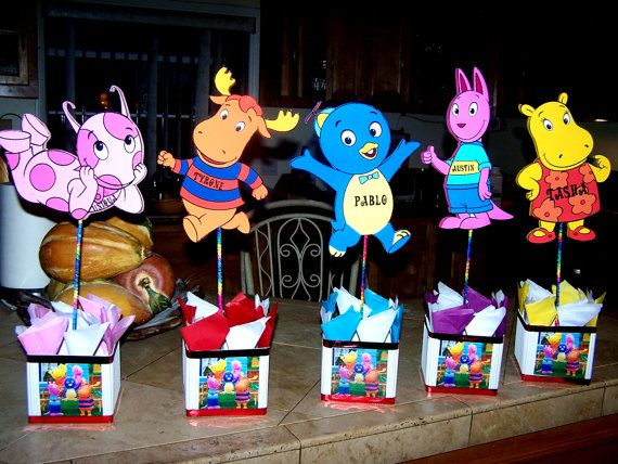A set of 5 backyardigans birthday party by birthdayparty2 for Backyardigans party decoration