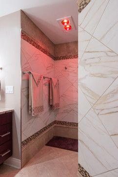 Custom Shower Heat Lamps In Action With Images Bathroom Heat