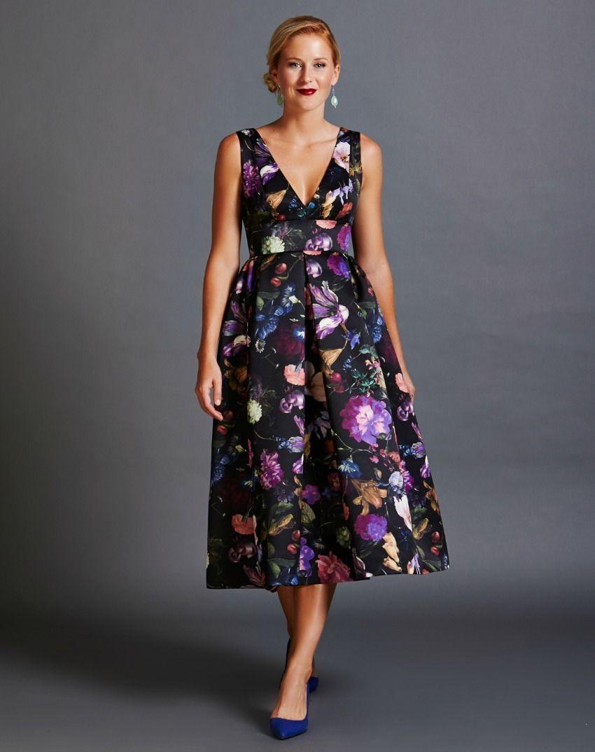 Sleeveless Midnight Garden Tea-Length Dress | Options | Pinterest ...