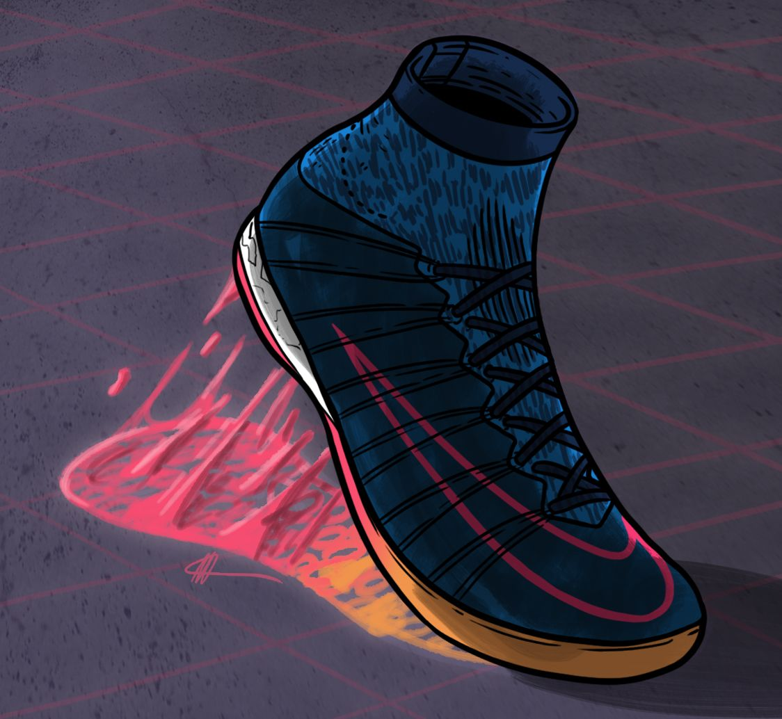 Nike Football X Distressed Indigo Make Your Mark Nike Art Nike Football Sneaker Art