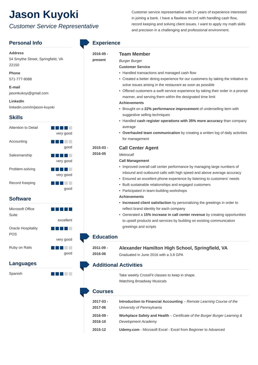 Bank Teller Resume Template 2019 Bank Teller Resume