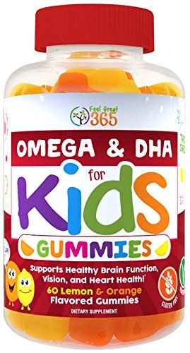 Complete Dha Gummies For Kids By Feel Great 365 Omega 3 6 9 From