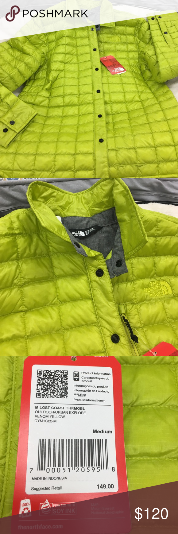 Nwt The North Face Lost Coast Lime Green Snap Jacket With A Collar The North Face Jackets Coats Puffers Clothes Design North Face Jacket Fashion Design [ 1740 x 580 Pixel ]