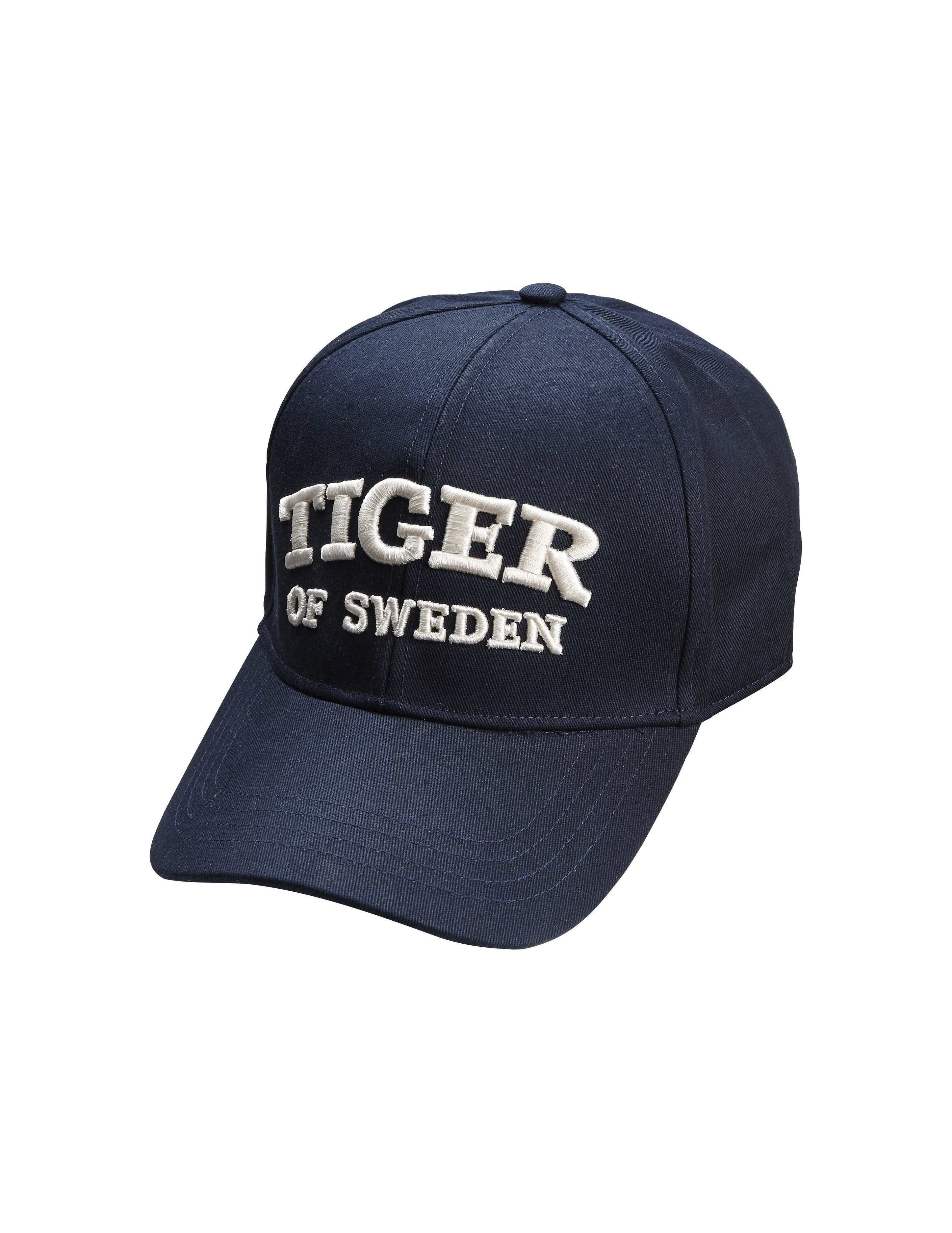 2a24a848cd1 Jarrod cap - Men s classic baseball cap in cotton canvas . Features  adjustable leather strap at back. Tiger of Sweden logo embroidery in  off-white at front.