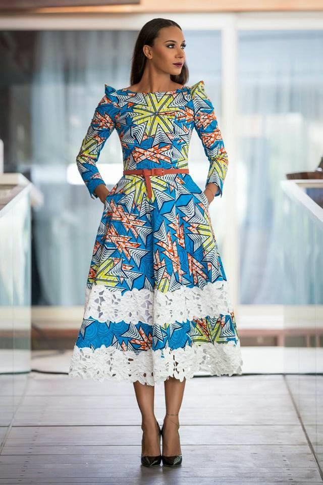 Robe wax femme moderne