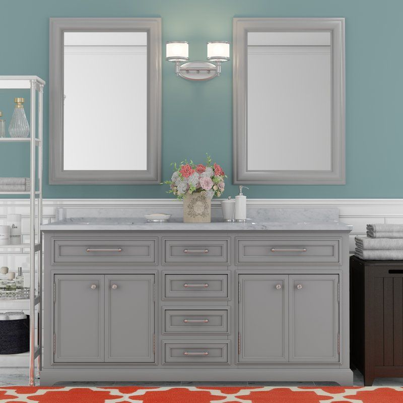 Bergin 72 Double Bathroom Vanity Set Grey Bathroom Vanity