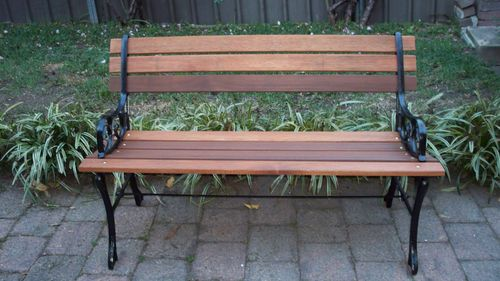 Vintage Cast Iron Garden Bench Seat Ebay Cast Iron 400 x 300