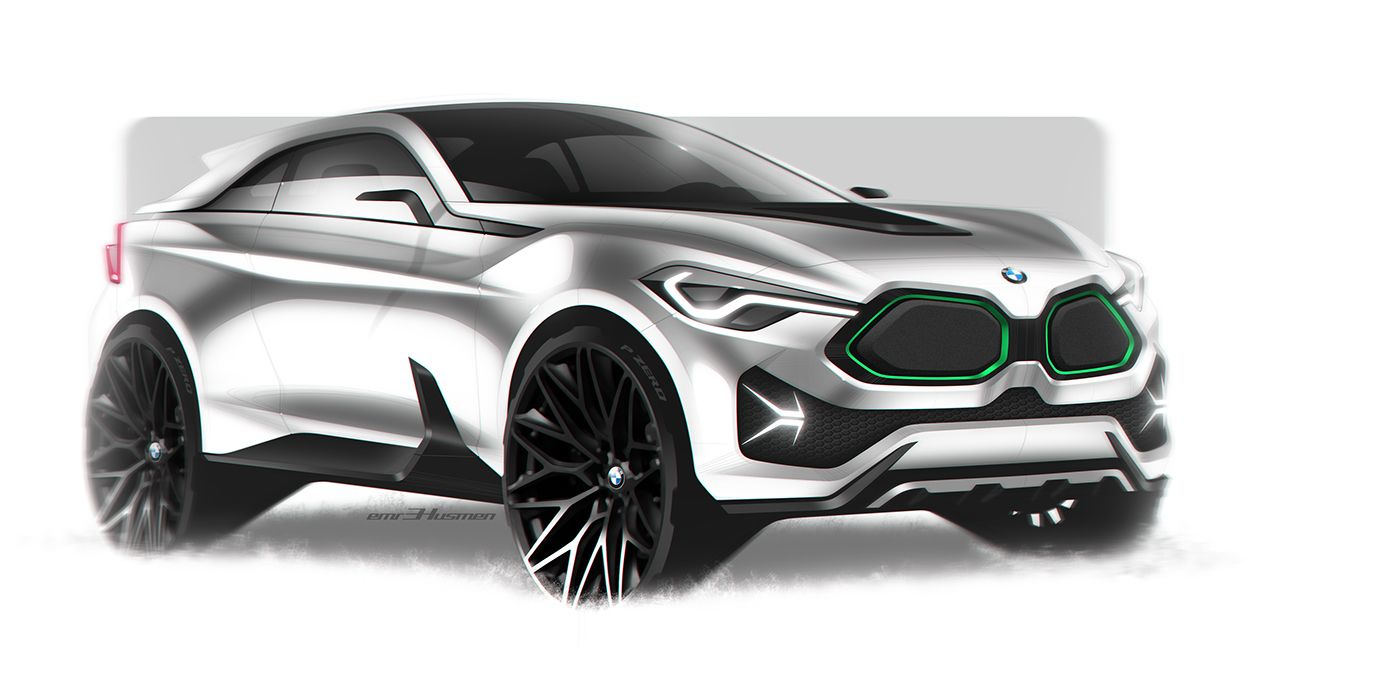 BMW X4  full electric compact crossover conceptquick photoshop
