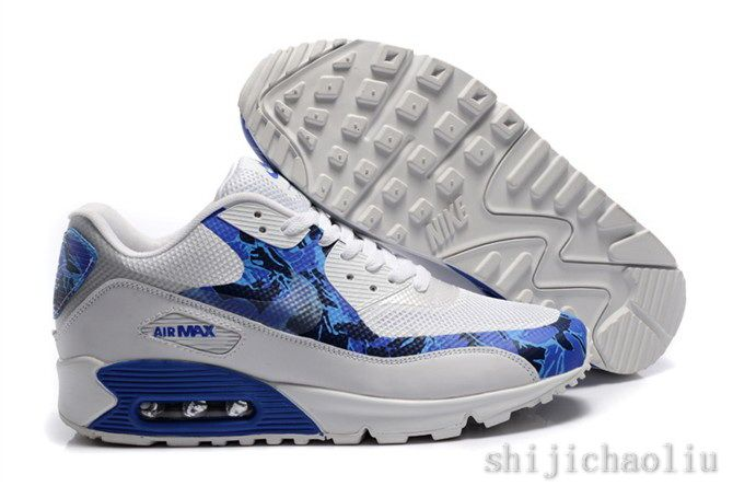 Nike Air Max 90 Hyperfuse Mens Running Shoes White Black