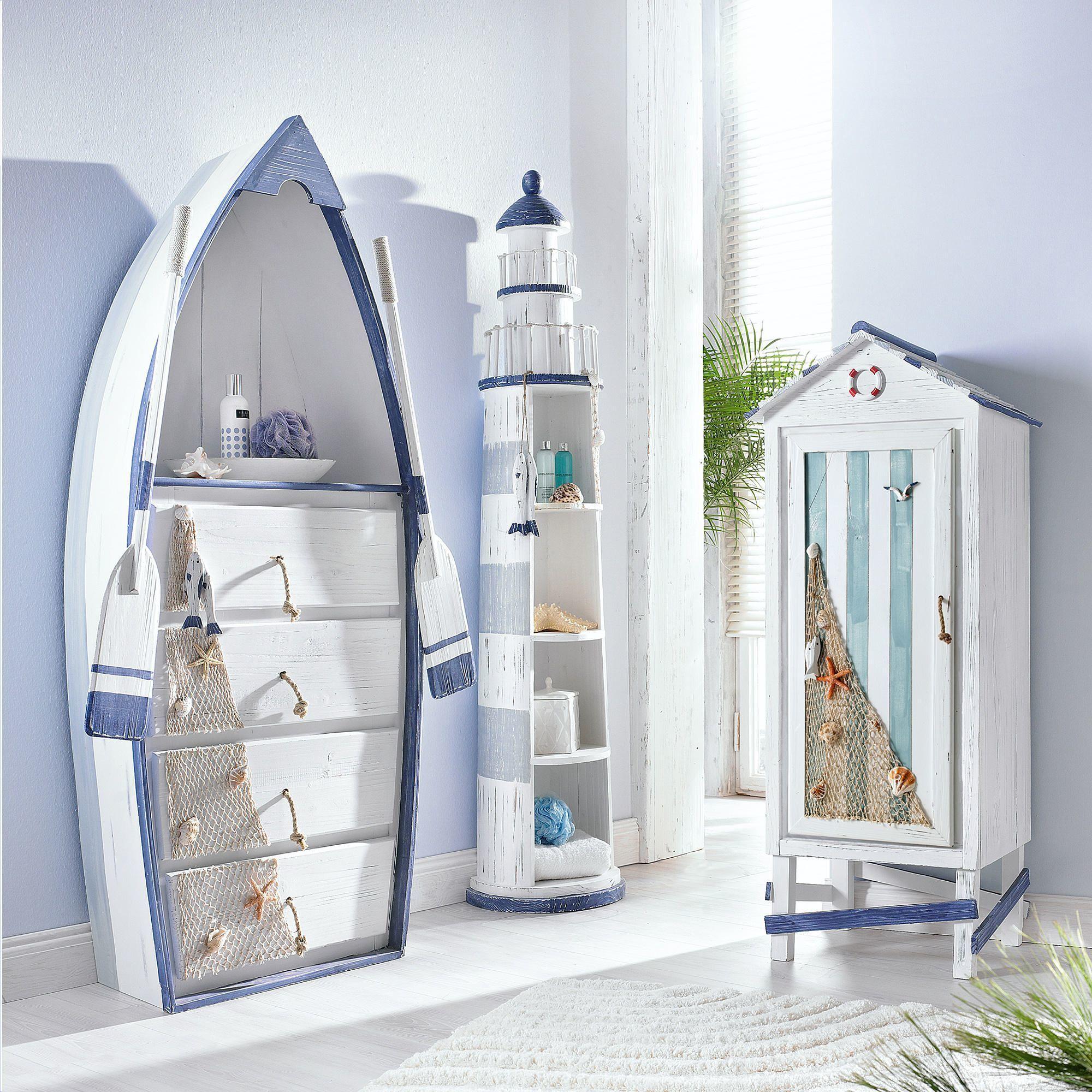 bootsregal baltic badregal badezimmer regal boot maritim ebay nautical inspiration. Black Bedroom Furniture Sets. Home Design Ideas