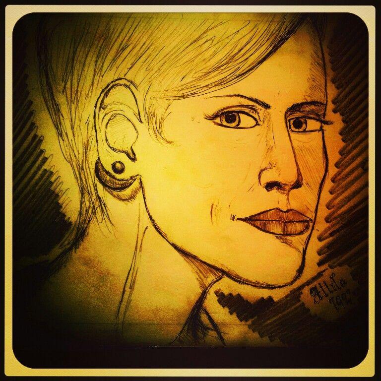 Matita : ritratto femminile