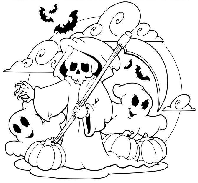 gruselige halloween ausmalbilder zum ausdrucken 10 | Halloween ...