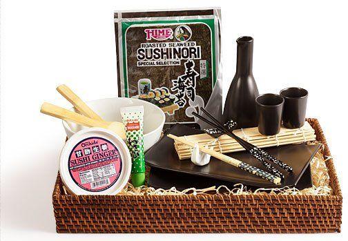 Sushi basket. Sushi basket Themed Gift Baskets