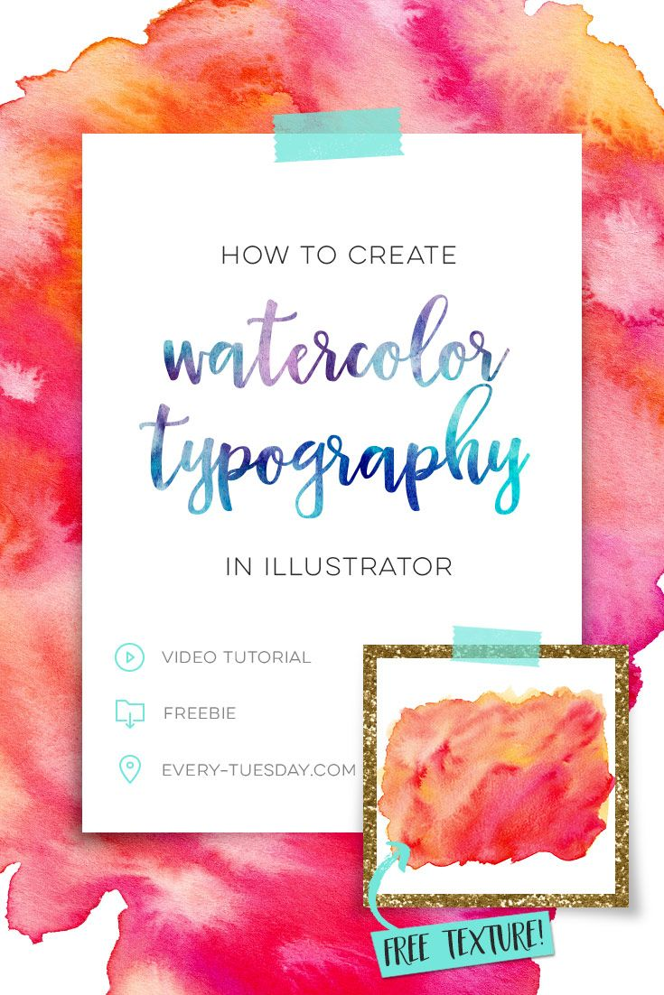 How To Create Watercolor Typography In Illustrator Watercolor