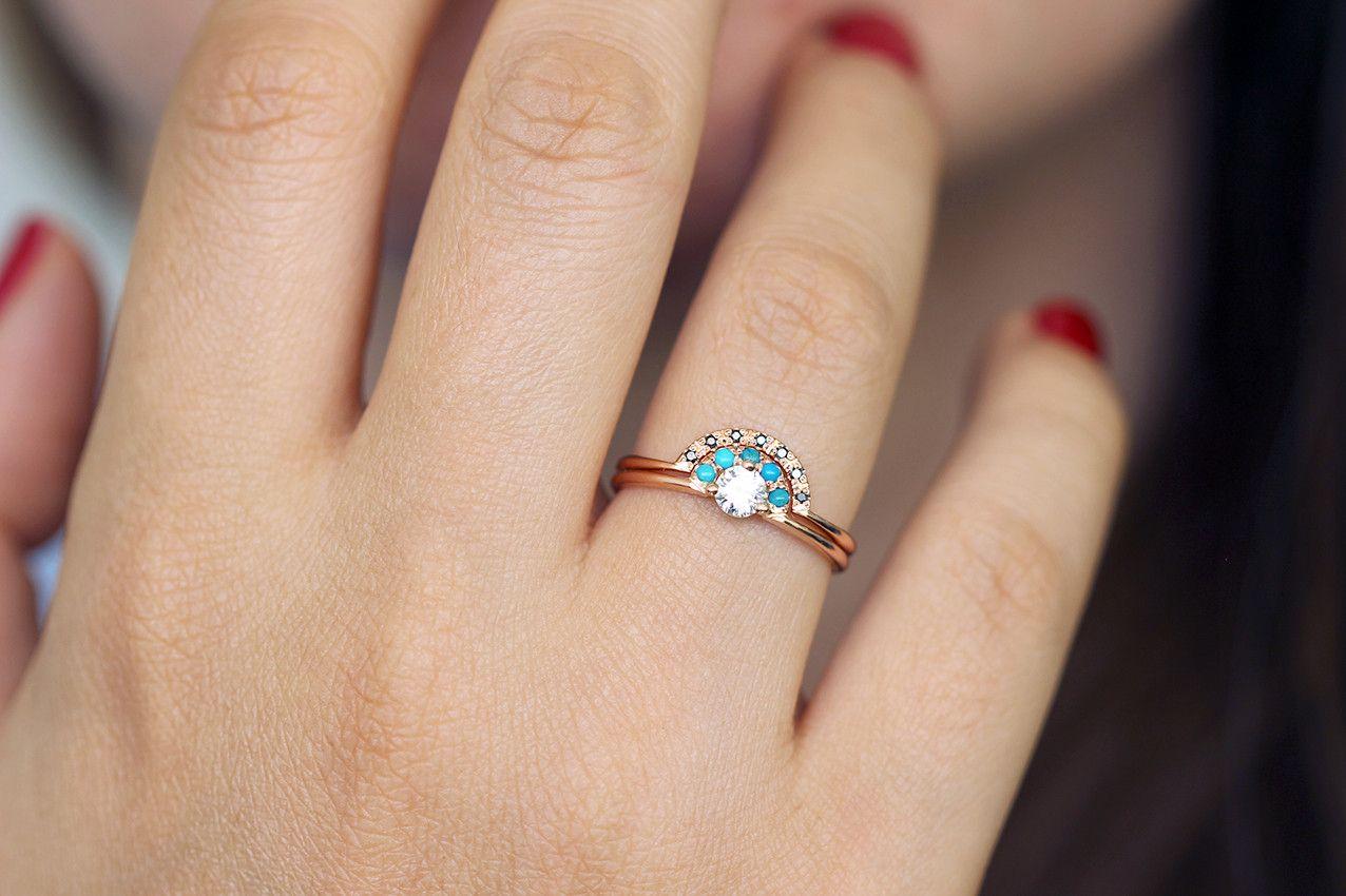 Turquoise Wedding Ring Rings Sets