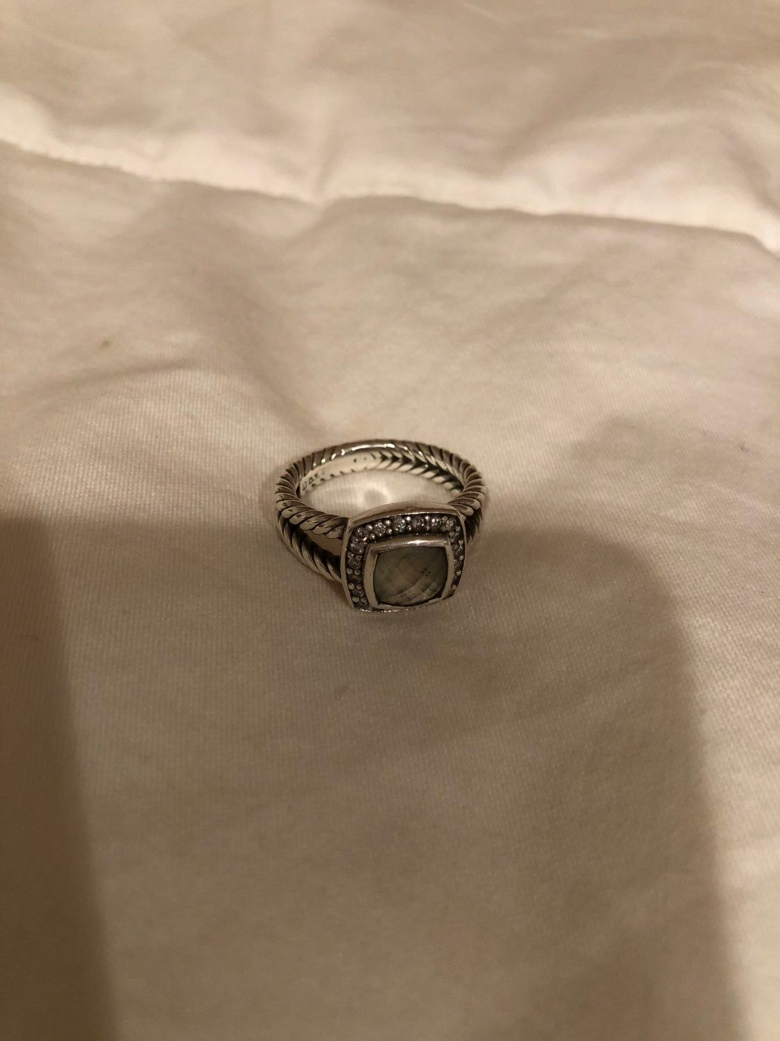 Authentic David Yurman Petite Albion Ring In Parisolite Includes Dust Bag And Copy Of Receipt Resized To Size 6 David Yurman Ring Yurman Ring Rings