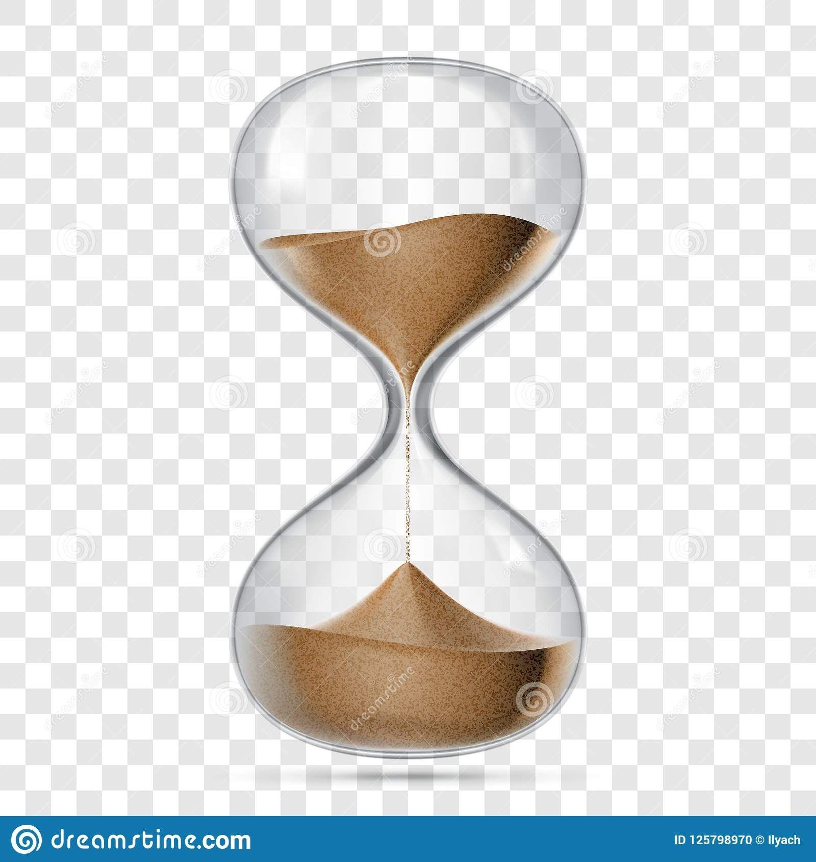 Hourglass sandglass vector realistic isolated 3D Vector
