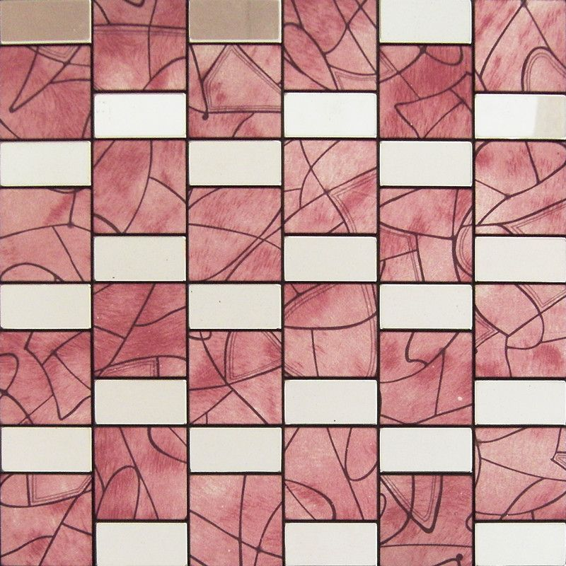 Wall Decorative Tiles Inspiration Peel And Stick Tile Red Aluminum Metal Wall Tile Adhsive Mosaic 2018