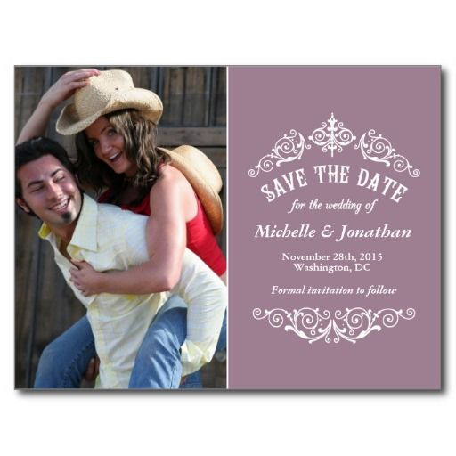 This Deals Classic Vintage Save the Date Postcards Classic Vintage ...