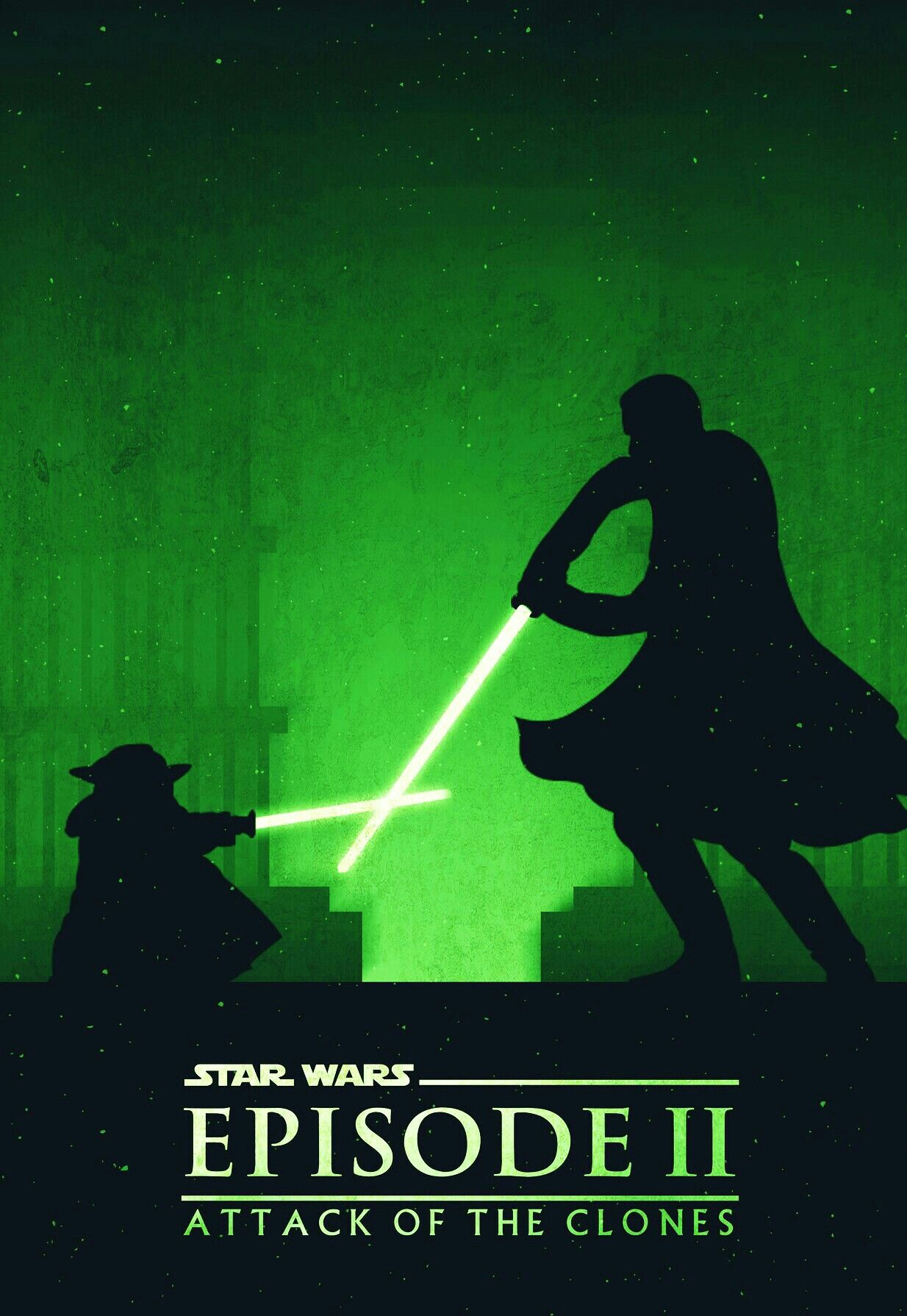 Attack Of The Clones With Images Star Wars Poster Star Wars