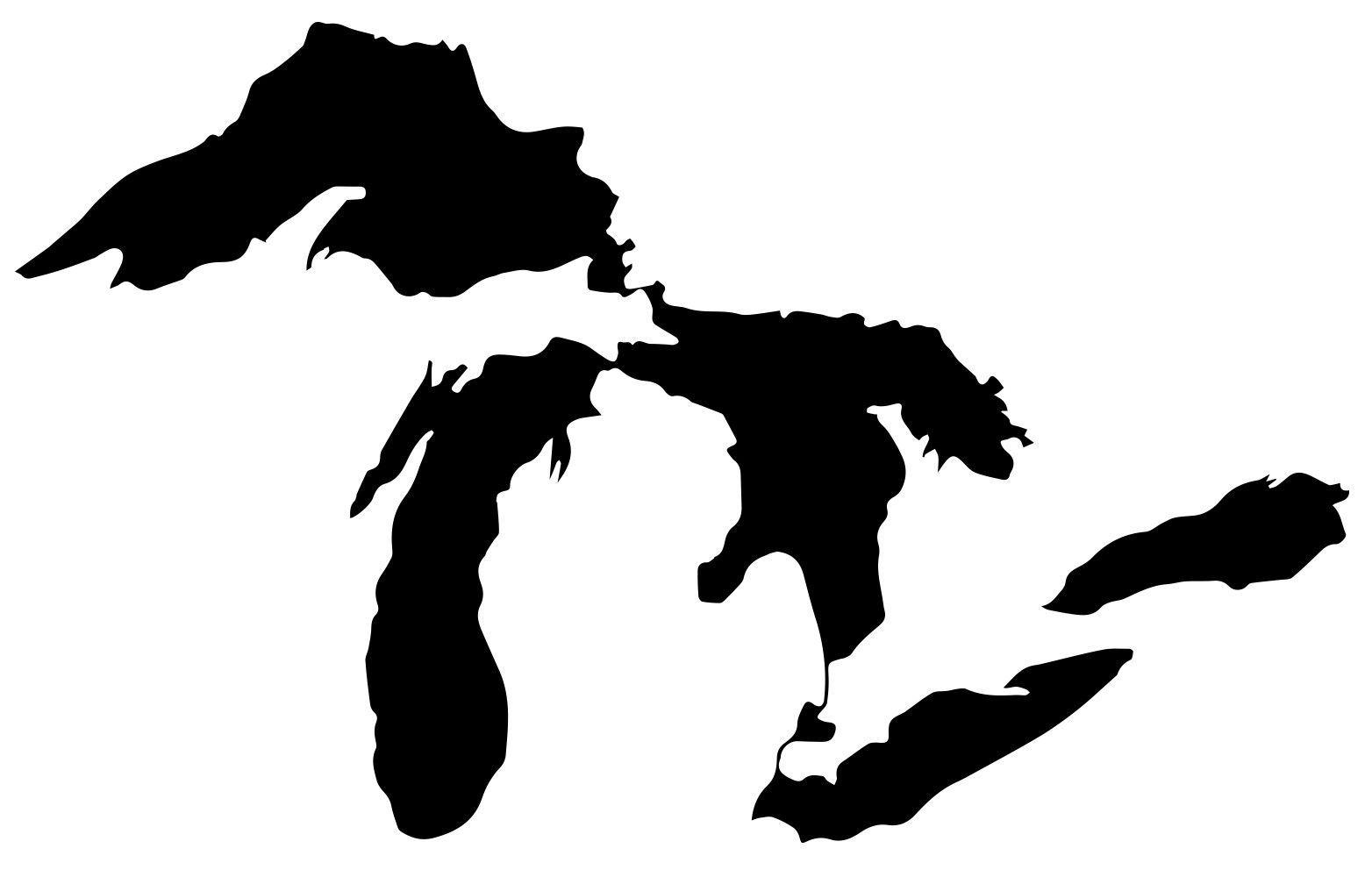 Vinyl Sticker Great Lakes