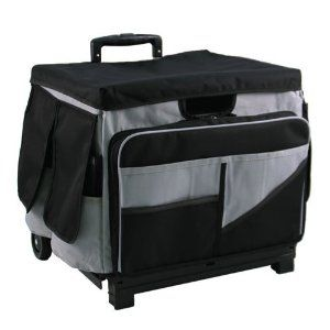 Qube Caddy Xl Black Gray By Etonomy 49 95 A Convenient Carryall The Qube Caddy Pairs A Durab Scrapbook Supplies Organization Tote Organization Rolling Bag