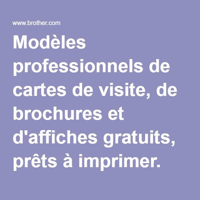 Modeles Professionnels De Cartes Visite Brochures