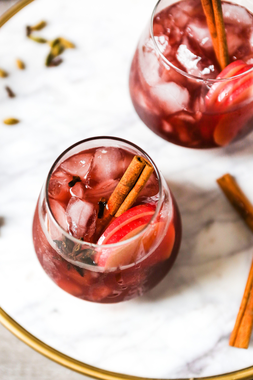 Red Wine Apple Cider Sangria Recipe Apple Cider Sangria Cider Sangria Red Wine Sangria