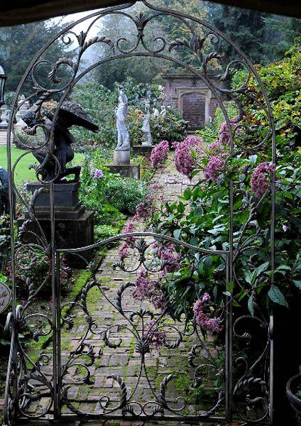 The enchanting secret garden walkway