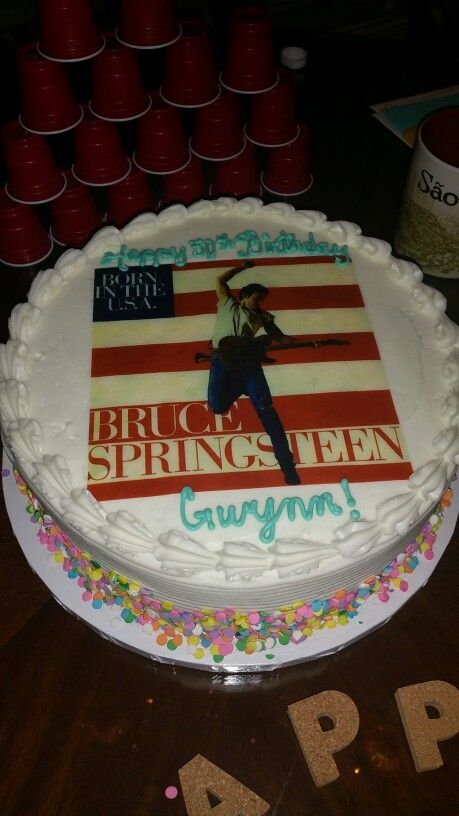 Tremendous Finally A Bruce Cake For My 50Th With Images Bruce Spring Funny Birthday Cards Online Bapapcheapnameinfo