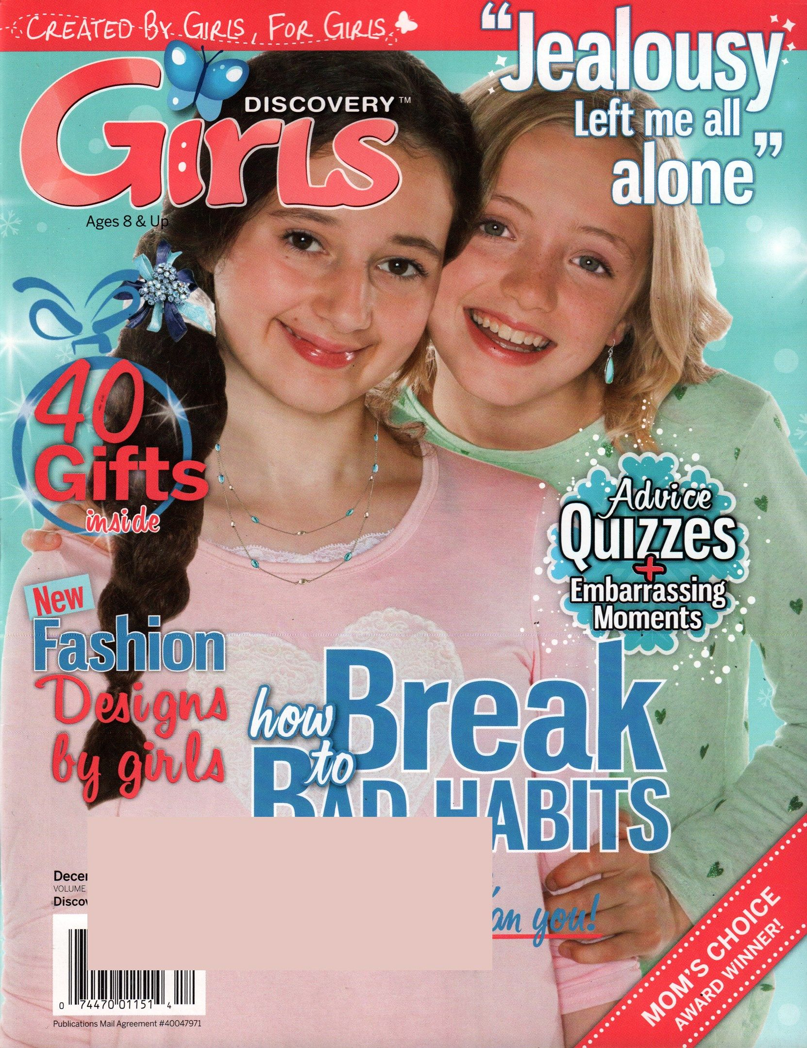 Discovery Girls Cover for 12/1/2015 | Tween Media | Pinterest