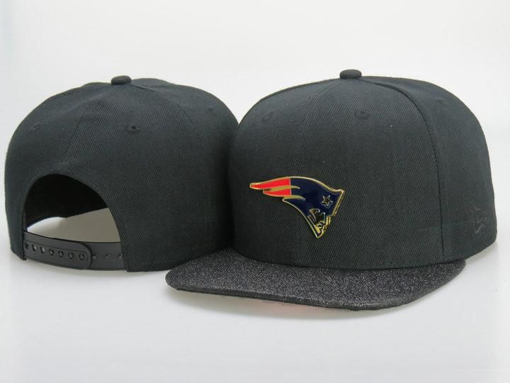 Men s New England Patriots New Era Gold Metallic NFL Team Logo 9Fifty  Customized Brim Snapback Hat - Black   Grey 4d4cf776299