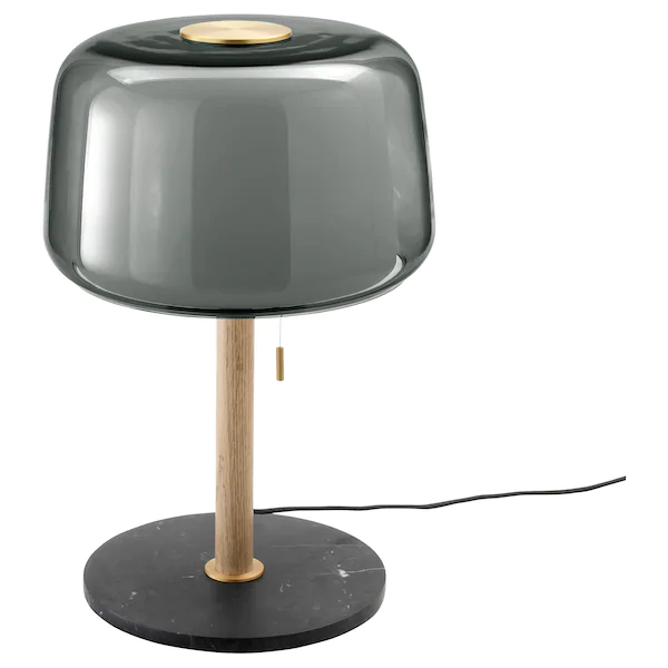 Evedal Lampe De Table Marbre Gris Gris Ikea In 2020 Grey Table Lamps Lamp Table Lamp