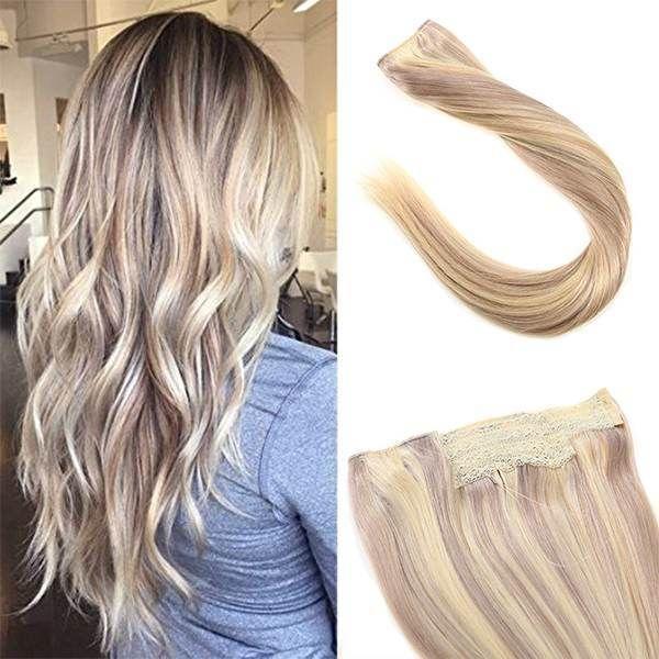 Flip In Human Hair Extensions No Clip No Glue Silky Straight Ash