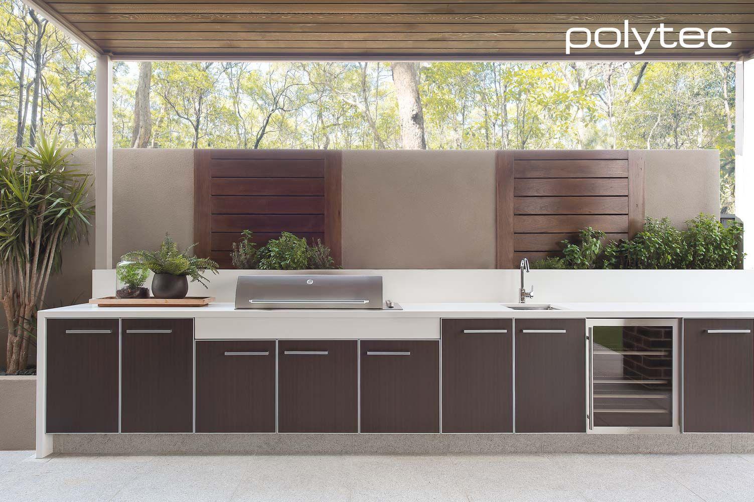 Doors In Aluminium 5mm 55mm Satin Alumunium Frame With Belgian Oak Compact Outdoor Kitchen Design Outdoor Bbq Kitchen Outdoor Barbeque